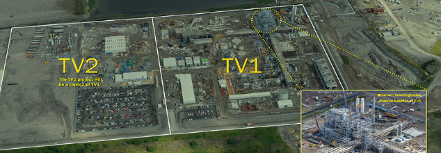 Alter NRG TV1 and TV2 Sites at the Tees Valley Waste to Energy Plant in UK