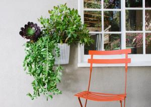 Woolly Pocket wall planter outdoors