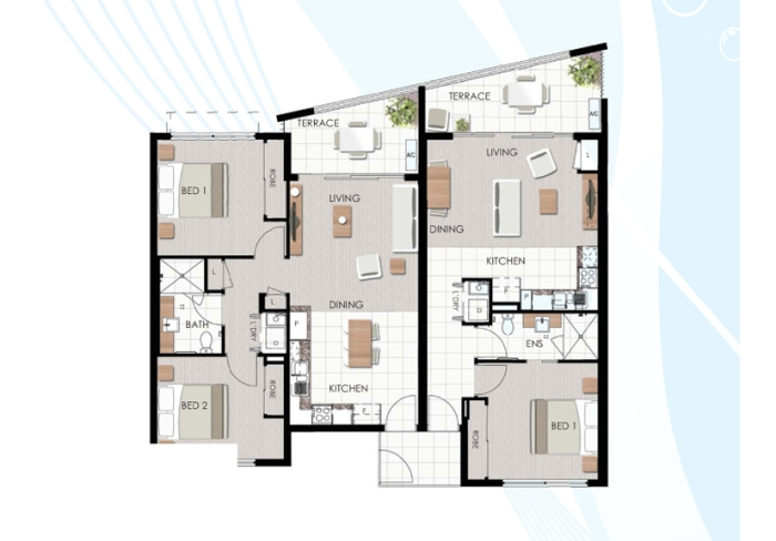 Multiple Generation Apartment Layout