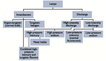 Types of Artificial Lamps